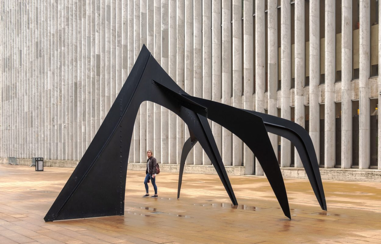 Le Guichet sculture by Calder, Lincoln Center,